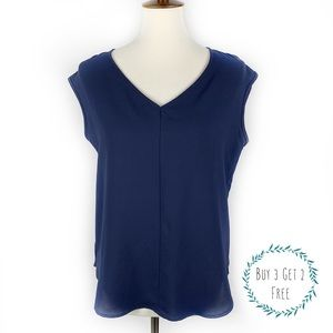 3/2 FOREVER 21 | Navy Blue Blouse